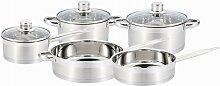Batterie de cuisine 8 pièces AGAPE - Inox - Gris