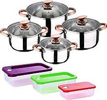 Batterie de cuisine 8 pièces compatible avec