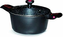 Baumalu 383606 Faitout avec Couvercle 28 cm Granit