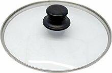 Baumalu 383717 Couvercle Verre 32 cm Cerclé Inox