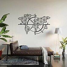 BAUPOR Design Unique Carte du Monde en métal