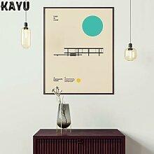 Bauthouse – affiche murale pour salon, affiche