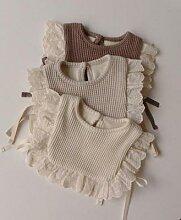 Bavoirs princesse en dentelle pour bébé fille et