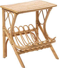 Bayahibe - Table de chevet vintage en rotin