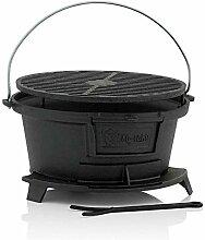 BBQ-Toro Barbecue en Fonte avec Grille | 32 x 33 x