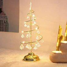 BBYH Mini guirlande de Noël à LED en cristal