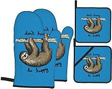 BCLYPBO Lazy Sloth Gant de cuisine et manique