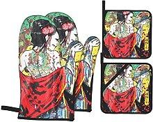 BCLYPBO Manique et manique Geisha japonaise -