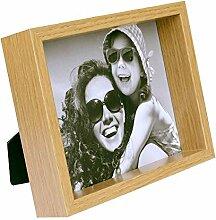 BD ART 20 x 25 cm Box Cadre Photo, Chêne