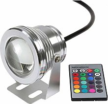 BDSHL Pack de 3 LED Lumière sous-Marine 10w