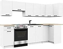 BDW Bloc de cuisine d'angle 300 cm modulable