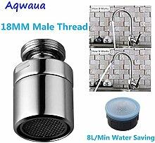 BDWS Aérateur de robinet rotatif à économie