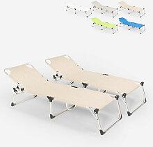 Beach And Garden Design - Lot de 2 chaises longues