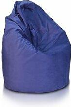 Beanbag / pouf hako - peluche - bleu foncé