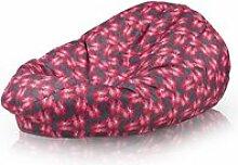 Beanbag / pouf hako - peluche - fleurs rouges