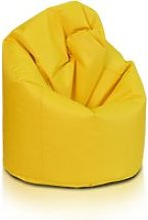 Beanbag / pouf hako - peluche - jaune