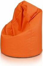 Beanbag / pouf hako - peluche - orange