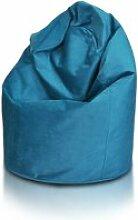 Beanbag / pouf hako - peluche - turquoise