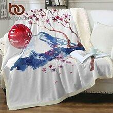 BeddingOutlet – couverture en fourrure De fleurs