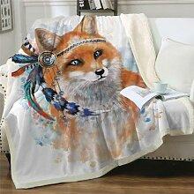 BeddingOutlet Fox Sherpa couverture dessin animé