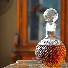 Behogar – bouteille en verre avec bouchon, rond,