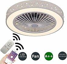 BEHWU Ventilateurs de Plafond avec Lampe