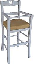 BEIGE chaise haute rembourrée avec protection