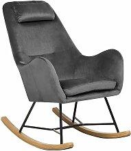 Beliani - Chaise à bascule grise foncée ARRIE