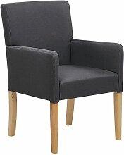 Beliani - Chaise de salle à manger en tissu gris