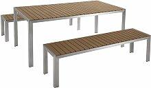 Beliani - Ensemble de jardin en aluminium et bois