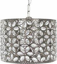 Beliani - Lampe suspension argentée SAJO