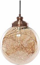 Beliani - Lampe suspension boule cuivrée BENI