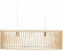 Beliani - Lampe suspension design effet bois clair