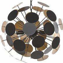 Beliani - Lampe suspension design noire et dorée