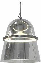 Beliani - Lampe suspension gris en verre ARDILLA
