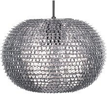 Beliani - Lampe suspension nickel REINE