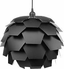 Beliani - Lampe suspension noire gros abat-jour