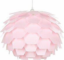 Beliani - Lampe suspension rose gros abat-jour