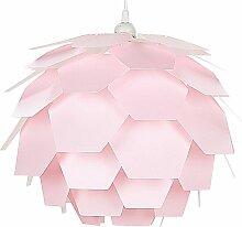 Beliani - Lampe suspension rose petit abat-jour