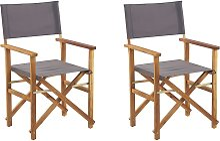 Beliani - Lot de 2 fauteuils metteur en scène