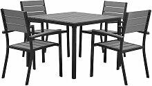 Beliani - Table 4 chaises en aluminium gris PRATO