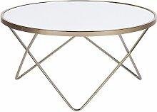 Beliani - Table basse blanche et dorée MERIDIAN II