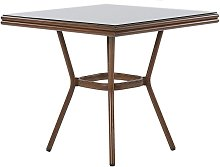 Beliani - Table de jardin en aluminium effet bois