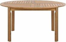 Beliani - Table de jardin en bois acacia clair ø