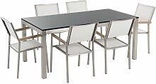 Beliani - Table de jardin plateau granit 180 cm 6