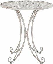 Beliani - Table ronde de jardin bistrot en métal
