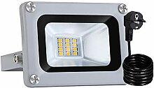Bellanny Projecteur LED 10W Lampadaire exterieur