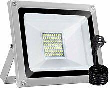 Bellanny Projecteur LED 30W Lampadaire exterieur