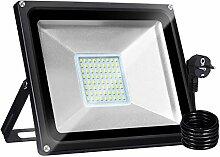 Bellanny Projecteur LED 50W Lampadaire exterieur