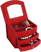 Belle boîte de rangement de bijoux de